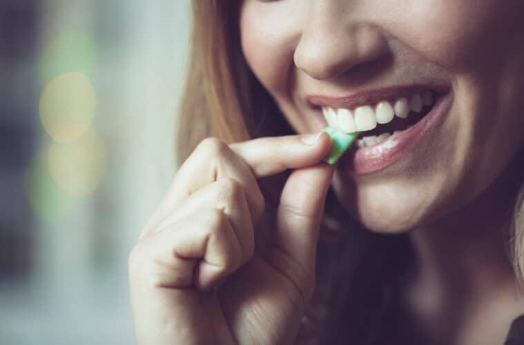 Chewing on CBD Gum
